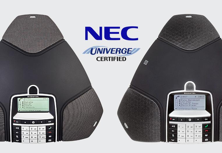 NEC certifies Konftel IP conference phones - Konftel